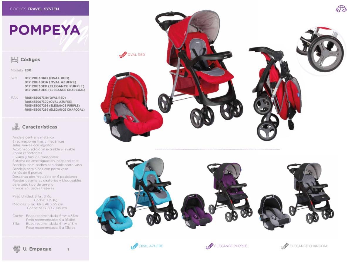 706a63b20 coche infanti pompeya con silla para auto - color morado. Cargando zoom.