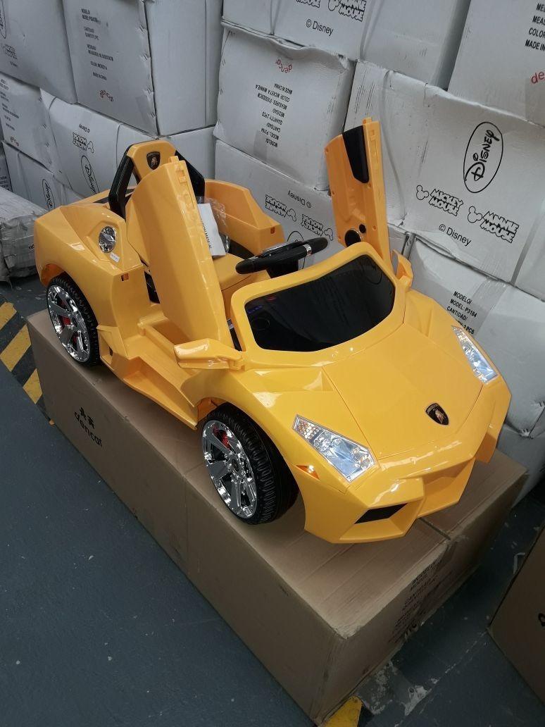 Coche Lamborghini 12 Volts A Bateria Con Luz Y Sonido C/ Rc ...