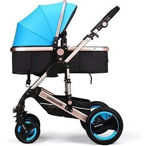 coche luxury plegable anti-choque recién nacido belecoo azul