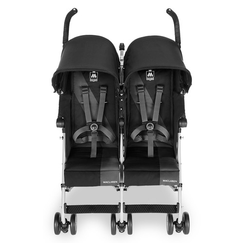 coche maclaren twin triumph black doble 30 kg