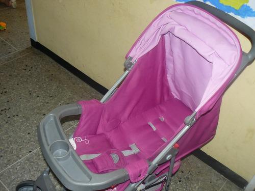 coche masterkids niña rosado magenta usado 50verdes