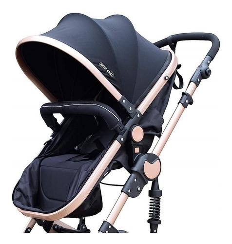 coche mega baby bebe convertible tres en uno con huevito + asiento moisés cuna plegable liviano