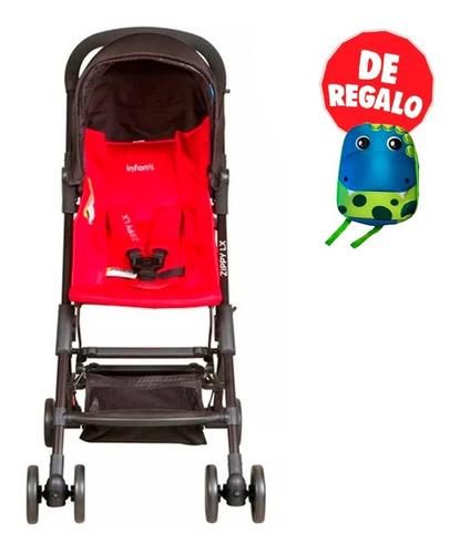 coche mochila zippy de lujo rojo infanti + regalo