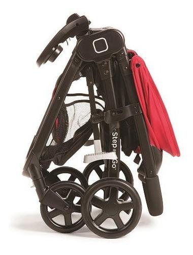 coche para bebe con silla step and go rojo safety + regalo