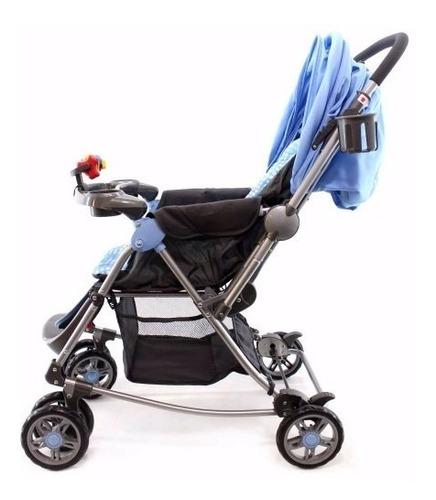 coche para bebe mecedora 2 en 1 happy baby manija reversible