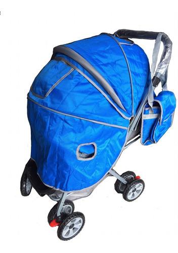 coche para bebe + pañalera + plastico lluvia. niño y niña