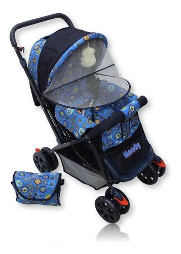 coche para bebe reversible,toldillo, pañalera y abullonado