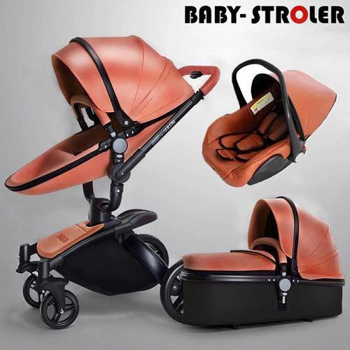 coche para bebé rosado