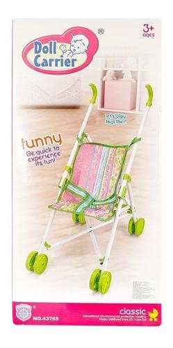 coche para muñecas doll carrier-rosado cochesito muñeca  hs