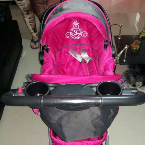 coche para niña con silla para carro en muy buen estado