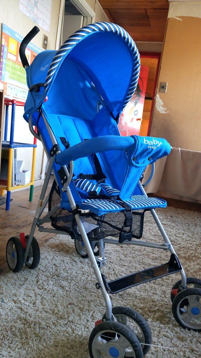 46c6bec8d Coche Paragua Baby Way Azul - $ 27.000 en Mercado Libre