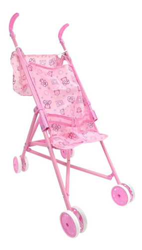 coche paraguitas de juguete para muñecas hasta 40 cm rosa