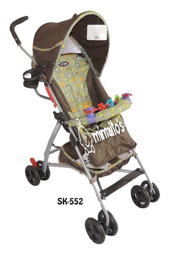 coche paseador marca stork 3 posiciones tipo sombrilla
