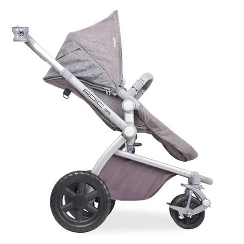 coche p/bebe c/silla para auto epic violeta infanti + regalo