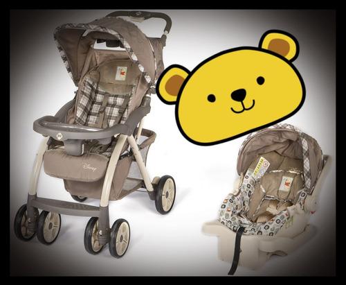 coche + porta bebé y base para carro (unisex)