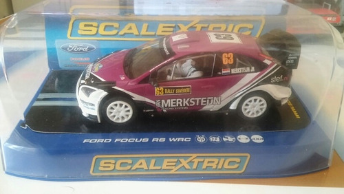 coche scalextric hornby con luces ford focus rs wrc