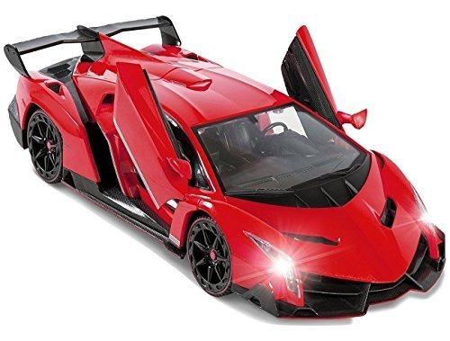 Coche Teledirigido Con Pilas Rojo Lamborghini Veneno Juguete