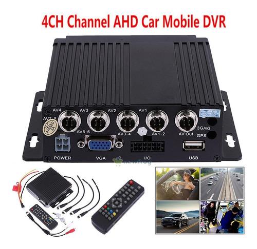 coche vehículo bus rv móvil hd 4ch dvr grabador de audio víd