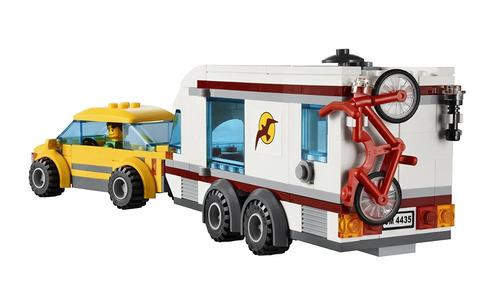coche y caravana lego city town 4435