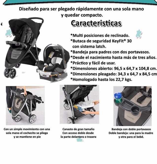 b578312e5 Cochecito Bebe Chicco Viaro + Huevito + Base Latch - $ 8.500,00 en ...