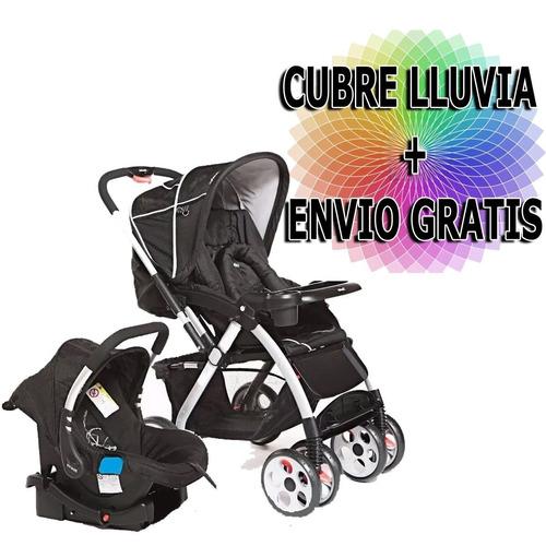 cochecito bebé de aluminio con huevito y base infanti g750