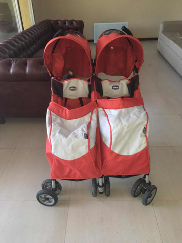 cochecito de bebé doble para mellizos