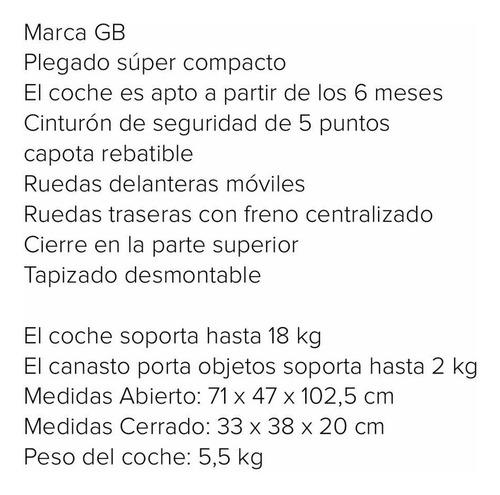 cochecito gb pockit