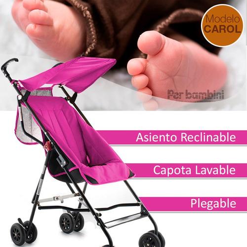 cochecito paraguita importado reclinable capota tecnofast