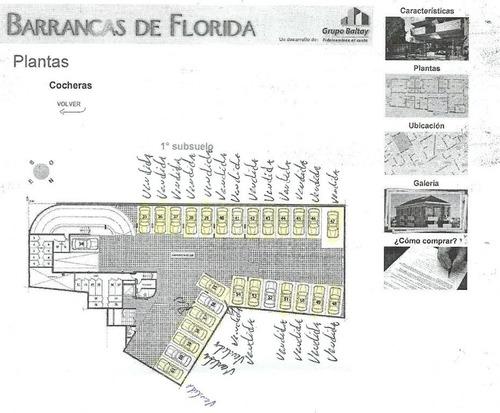 cochera fija  en venta ubicado en florida, zona norte