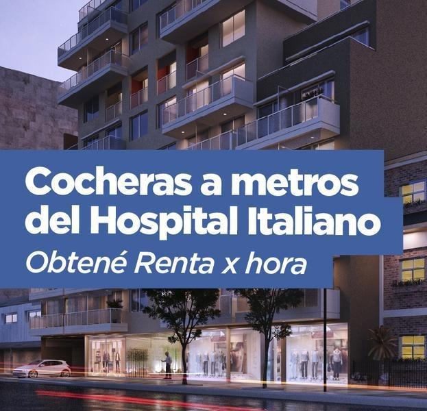 cocheras a metros del hospital italiano