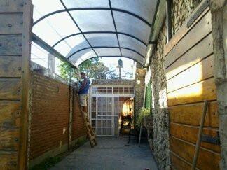 cocheras antigranizo, techos, frentes de casas, trabajos,etc