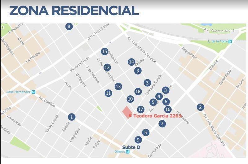 cocheras en zona residencial premium