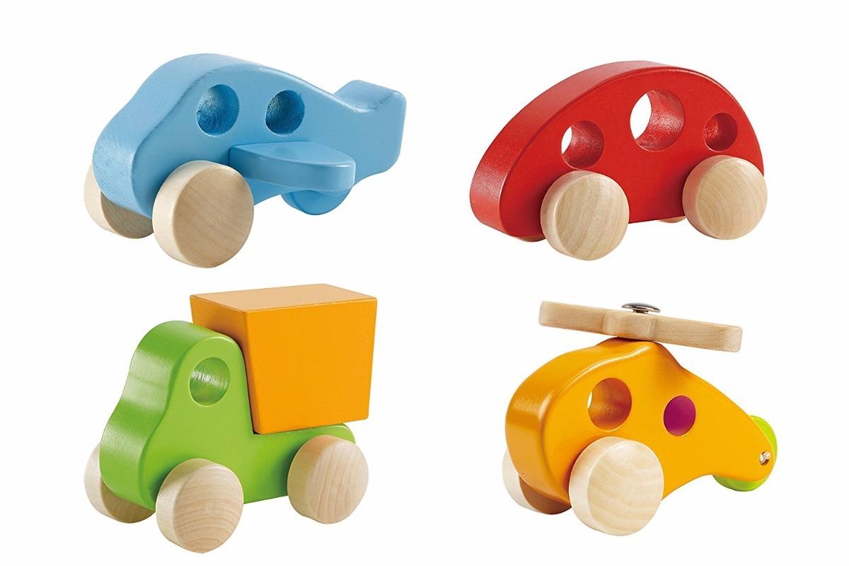 Coches De Juguete De Madera Hape Y Camiones Para Niños 4 Pi
