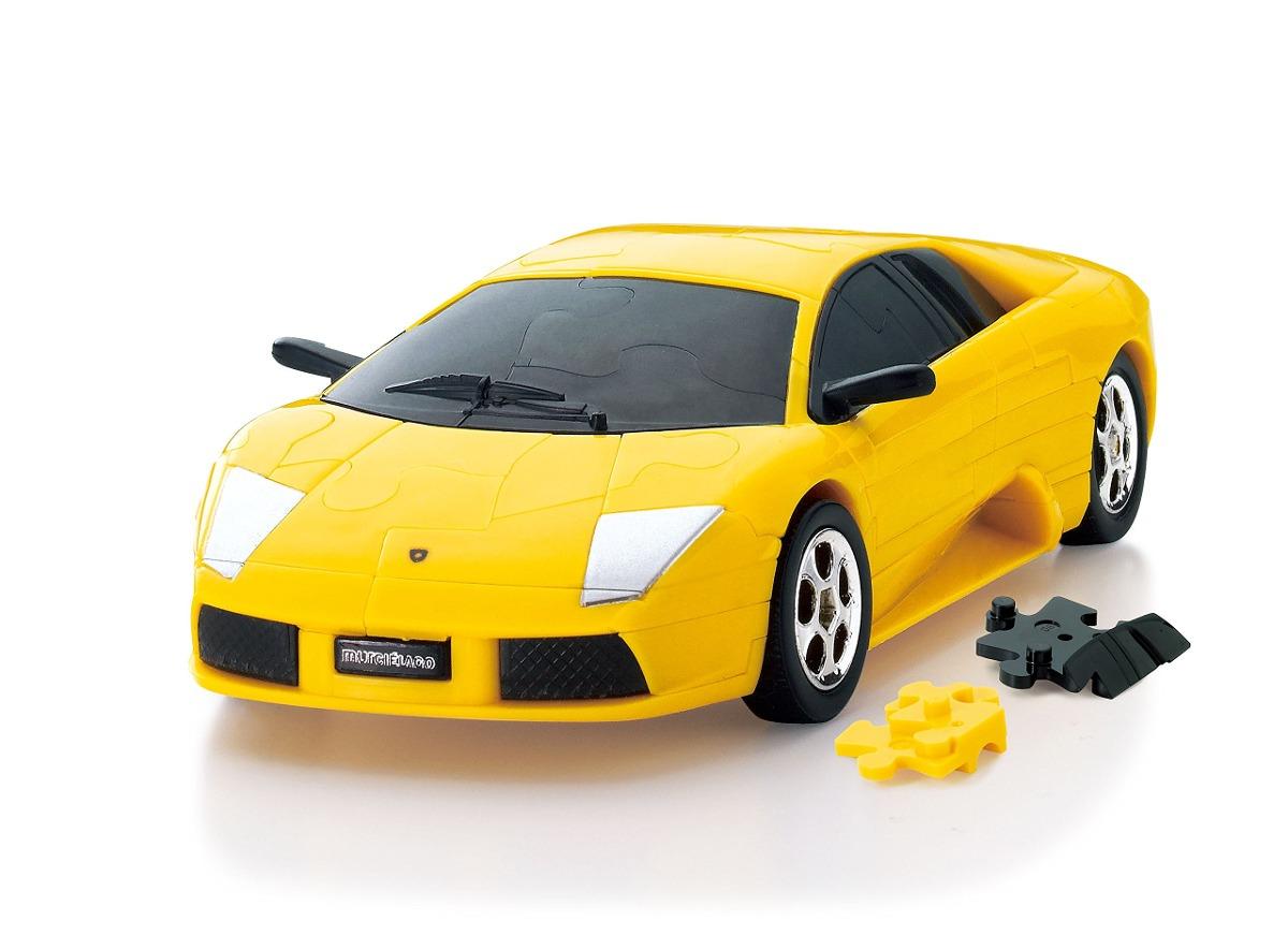 Coches Rompecabezas 3d Lamborghini Murcielago Amarillo