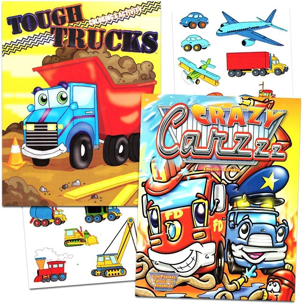 Coches Y Camiones Para Colorear Libro Set - 2 Libros Y Más D ...
