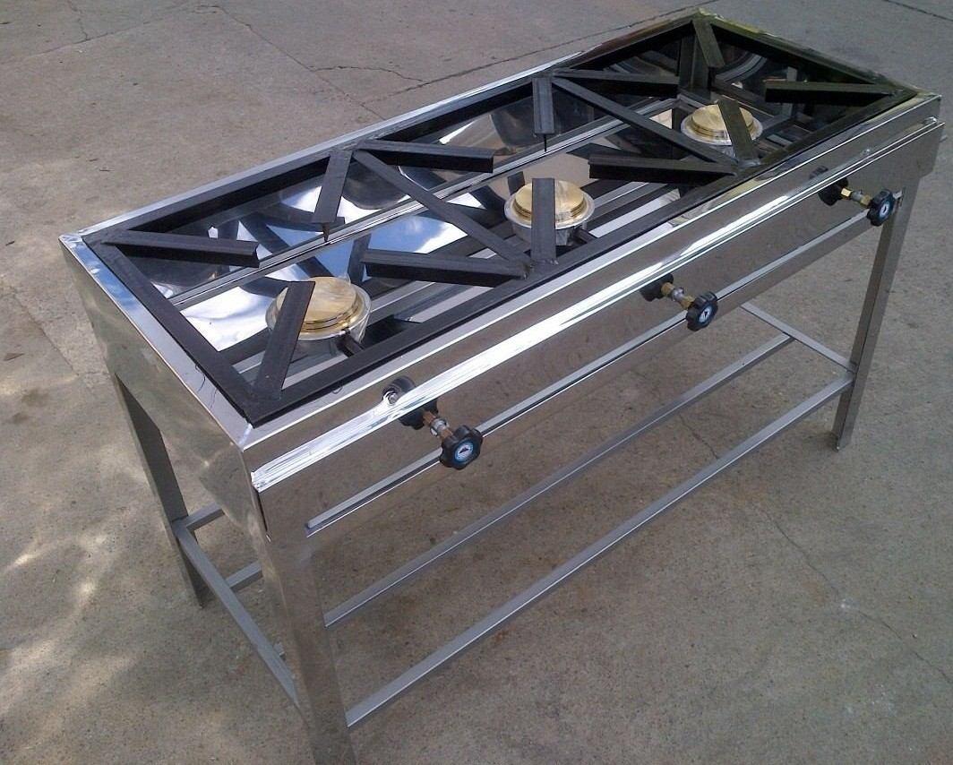 Cocina 3 quemadores forrada en acero u s 170 00 en - Cocinas industriales usadas ...