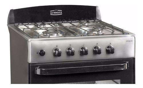 cocina 4 hornallas la mágica eco acero