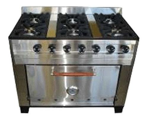 cocina 6 h. 93 cms. rej. fund.- acero esmerilado - e_garcia