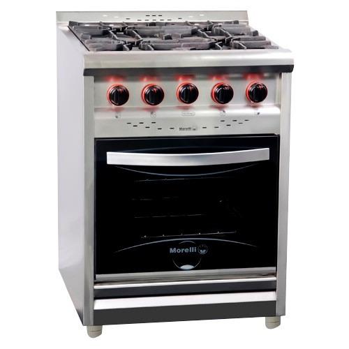 cocina 60cm 4h r/fundición p/vidrio hogar&country morelli