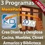 Kit Programa Para Crear Y Desglosar Muebles: Cocina Y Closet
