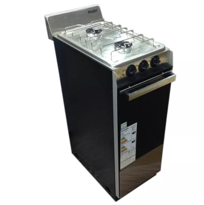 Cocina A Gas 2 Hornallas Y Horno A Gas Natural   Brogas 1130