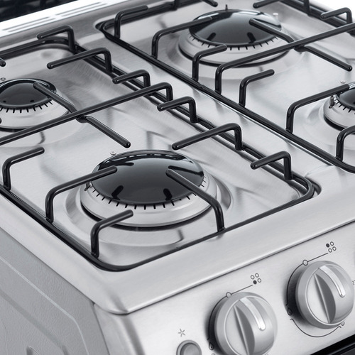 cocina a gas 55 cm inoxidable patrick cp6856i