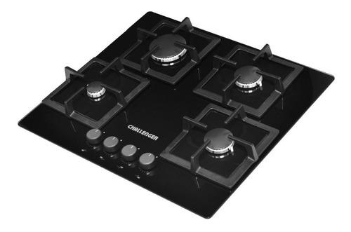 cocina a gas de 4 puestos challenger negra - ref. sq 6762