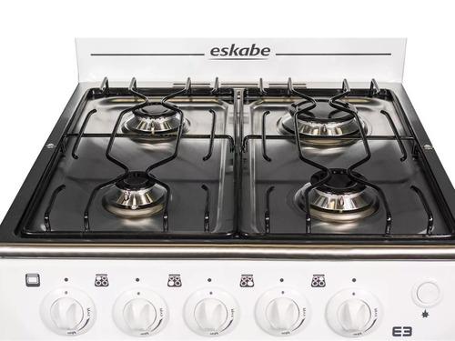 cocina a gas eskabe e3 blanca inox 52 cm.