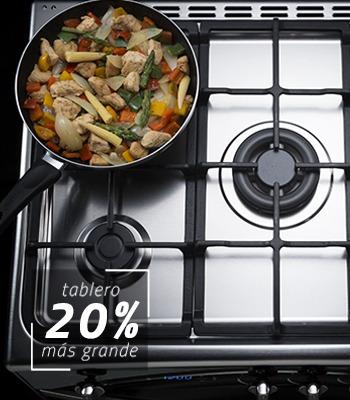 cocina a gas indurama montecarlo 5 quemadores grill digital