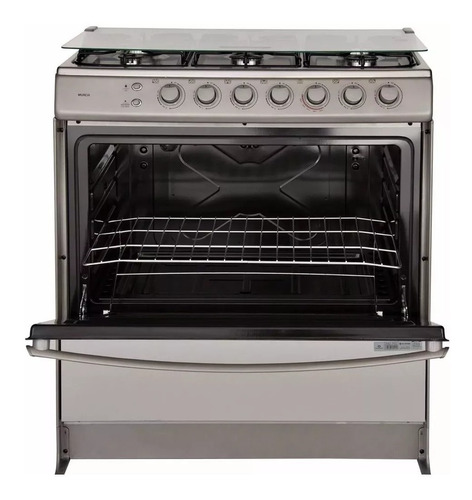 cocina a gas indurama murcia 6 quemadores horno ec eléctrico