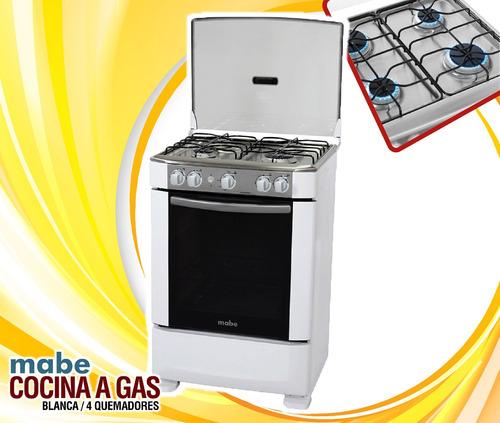 cocina a gas ingenious 60 cm blanca mabe incluido iva