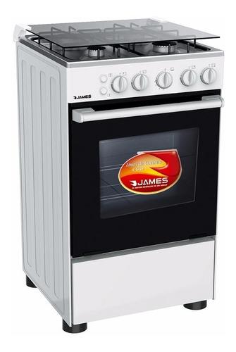 cocina a gas james 4 hornallas blanca c505mbt