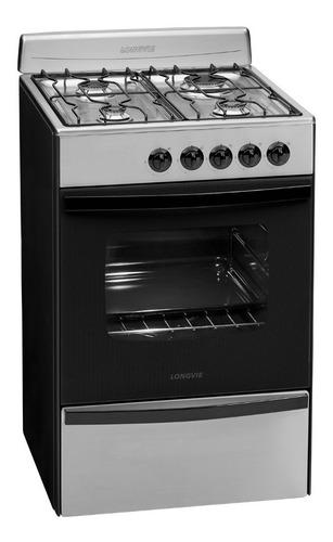 cocina a gas longvie 13231xf 56cm inox cajón parrilla