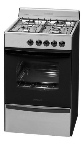 cocina a gas longvie 13231xf 56cm inox cajón parrilla pce